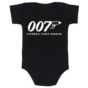 Body Bebê 007 Licença para Mamar