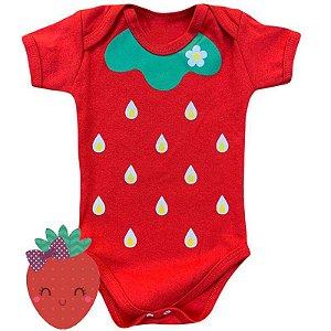 Body Bebê Frutinhas Morango