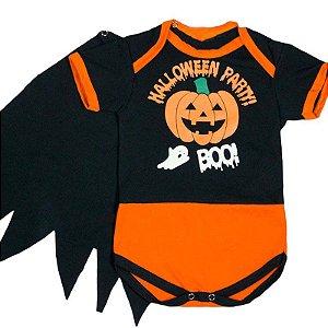 Body Bebê Halloween Party com Capinha