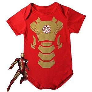 Body Bebê Homem de Ferro Armadura
