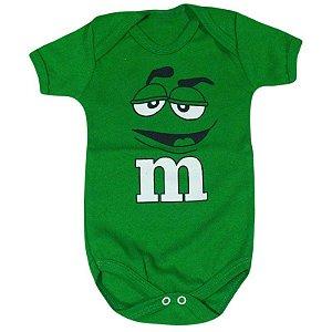 Body Bebê M&M's Verde