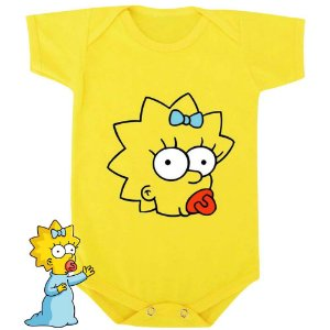 Body Bebê Maggie Os Simpsons