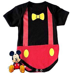Body Bebê Mickey Gravatinha