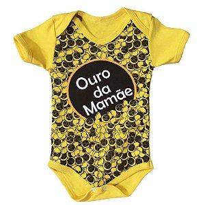 Body Bebê Ouro da Mamãe