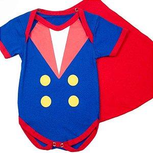 Body Bebê Luxo Pequeno Príncipe com Capinha