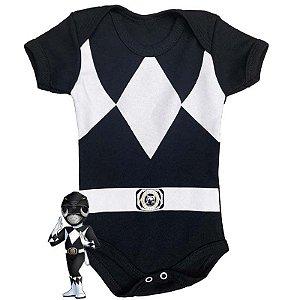 Body Bebê Power Rangers Preto