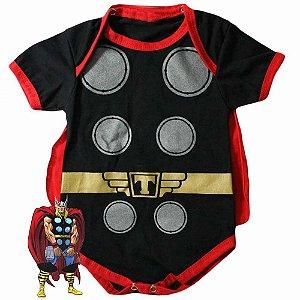 Body Bebê Thor com Capa