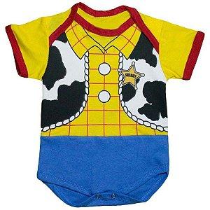 Body Bebê Luxo Toy Story Xerife Woody