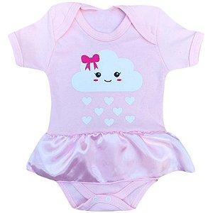 Body Vestido Bebê Nuvem Chuva de Amor