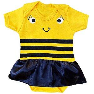 Body Vestido Bebê Abelhinha