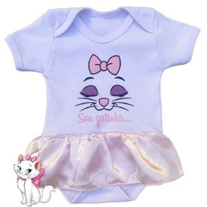 Body Vestido Bebê Gatinha Marie Sou Gatinha