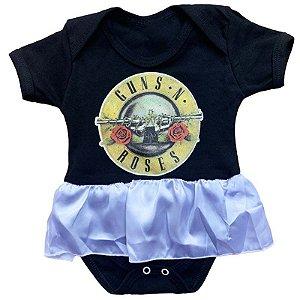 Body Vestido Bebê Guns N Roses