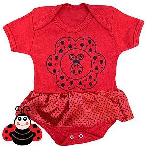 Body Vestido Bebê Joaninha Vermelha