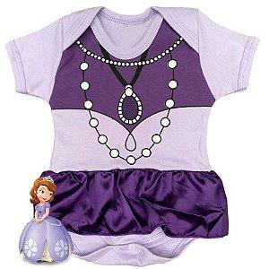 Body Vestido Bebê Princesa Sofia