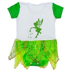 Body Vestido Bebê Luxo Sininho Tinker Bell