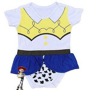 Body Vestido Bebê Luxo Toy Story Jessie