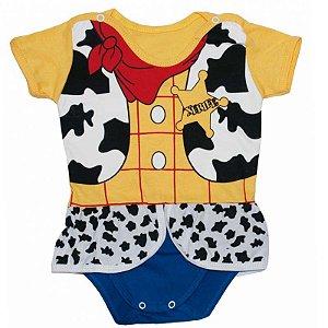 Body Vestido Bebê Luxo Toy Story Woody Menina