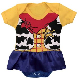 Body Vestido Bebê Toy Story Woody Menina