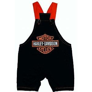 Jardineira Regata Bebê Harley Davidson