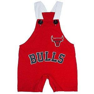 Jardineira Regata Bebê Basquete NBA Chicago Bulls