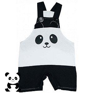 Jardineira Regata Bebê Bichos Panda
