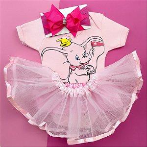 Kit Body Bebê Luxo Tule Dumbo