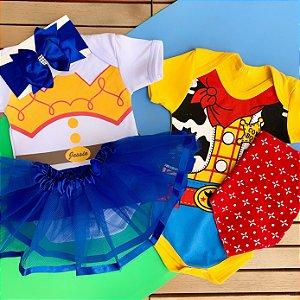 Kit Body Bebê Gêmeos Toy Story Xerife Woody & Jessie
