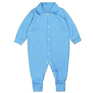 Macacão Bebê Básico Azul