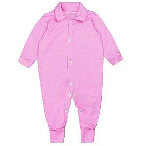 Macacão Bebê Básico Rosa