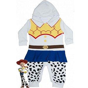 Macacão Bebê Suedine com Capuz Toy Story Jessie
