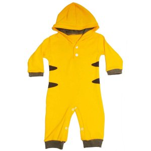 Macacão Bebê Suedine com Capuz Pokemon Pikachu
