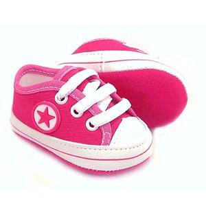 Tênis Bebê Estrelinha Rosa Pink