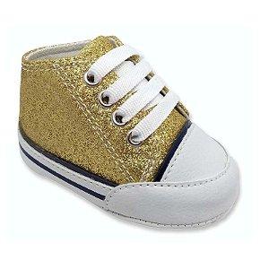 Tênis Bebê Glitter Dourado