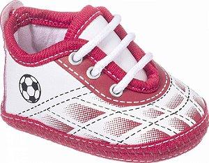Tênis Bebê Chuteira Futebol Vermelho