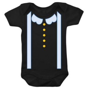 Body Bebê Mundo Bita Suspensório Azul