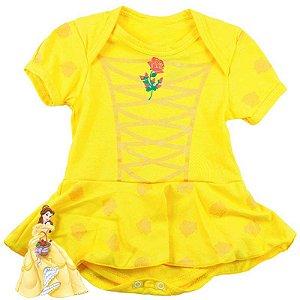 Body Vestido Bebê Luxo A Bela e a Fera