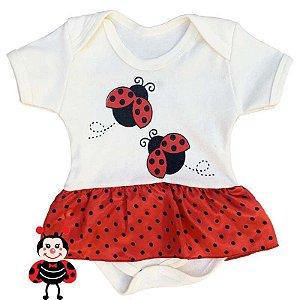 Body Vestido Bebê Joaninha