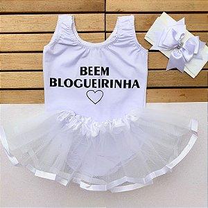 Kit Body Bebê Luxo Tule Beem Blogueirinha Branca
