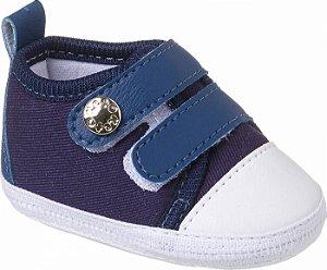 Tênis Basic Bebê Velcro Azul Marinho