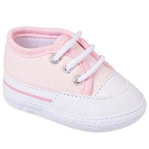 Tênis Basic Bebê Rosa Claro