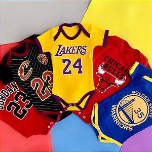Kit Body Bebê NBA Basquete