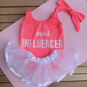 Kit Body Bebê Luxo Tule Mini influencer Rosa