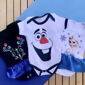 Kit Body Bebê Frozen