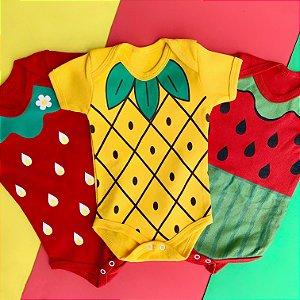 Kit Body Bebê Frutinhas