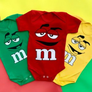 Kit Body Bebê M&M's