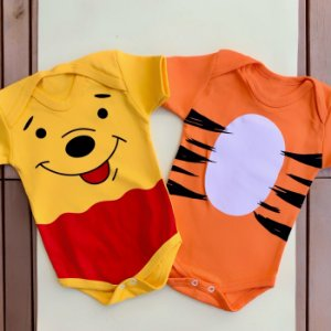 Kit Body Gêmeos Tigrão & Ursinho Pooh
