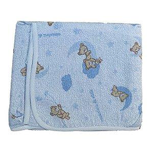 Toalha com Capuz Felpuda Azul Urso Céu