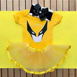 Kit Body Bebê Luxo Tule Wolverine Menina