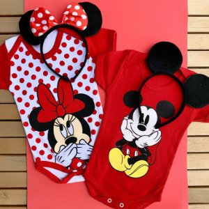 Kit Body Bebê Gêmeos Mickey & Minnie
