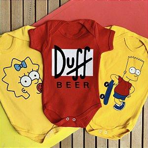Kit Body Bebê Os Simpsons